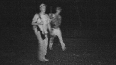 Two people were captured on surveillance.