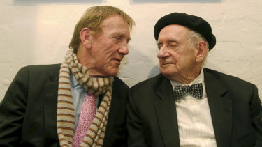 Edmund Capon and artist Charles Blackman in 2010.