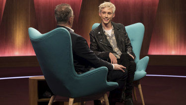"""I just felt so exposed and so vulnerable."" Troye Sivan told Andrew Denton the day after coming out to his parents was the hardest."