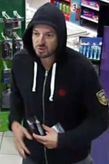 This man allegedly bought cigarettes, snacks and petrol to fill up a car he stole in South Yarra on April 6.