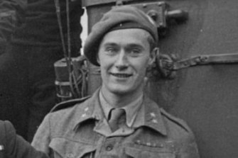 Joachim Ronneberg during his army service, c 1943.