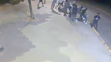 Image from CCTV footage showing the assault in St Kilda.