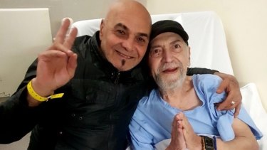 The last photo of Dragan Markovic with his father Nenad Markovic before the elderly man's death from COVID-19.