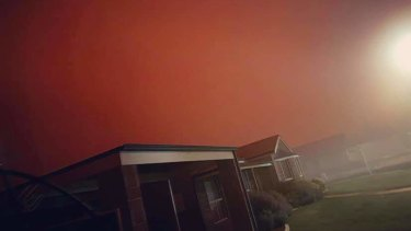 The sky went dark and the street lights switched on during the Tuesday afternoon dust storm.