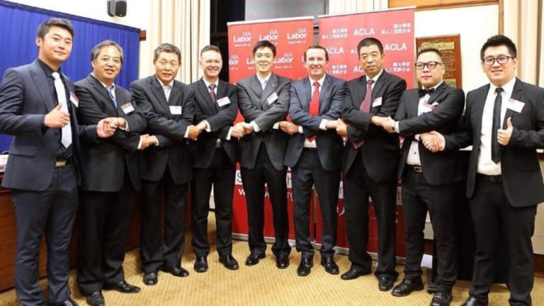 Premier Mark McGowan and Labor MP Pierre Yang at the launch at the Australian Chinese Labor Association in March 2015.