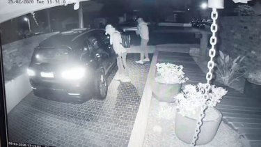 CCTV footage shows the robbery.