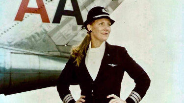 The real-life BeverleyBass, who was hired by American Airlines in 1976 as their third female pilot.