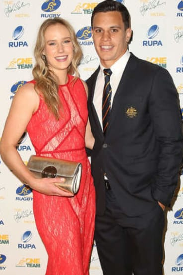 Long-distance relationship: Toomua and wife Ellyse Perry are happy supporting each other's careers.