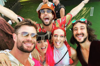 Chris Hemsworth and Elsa Pataky celebrated 2021 as Space-Pirates