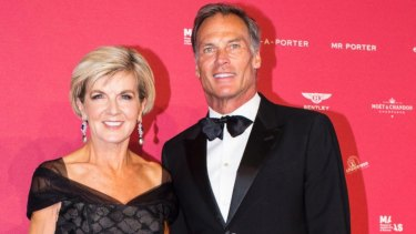 Foreign Affairs Minister Julie Bishop and David Patton at February's MAAS Fashion Ball at the Powerhouse Museum.