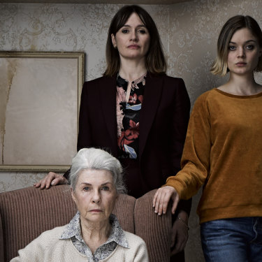 Robyn Nevin, Emily Mortimer and Bella Heathcote star in the horror drama Relic.