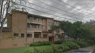 The unit block in Arthur Street, Marrickville, where a woman was stabbed overnight.