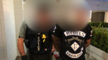One of the seven alleged Logan Rebels members arrested during the Friday morning raids.