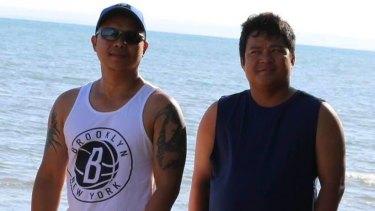 Denny Jade Caballa and Richard Catbagan drowned on Saturday at Teewah Beach.