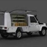 Police have released an image of a white Toyota Landcruiser.
