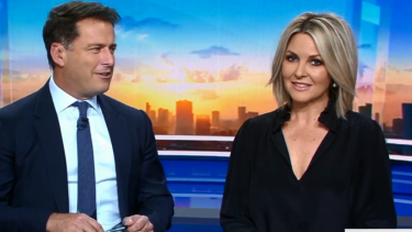 Rumoured tension between Georgie Gardner, right, and former co-host Karl Stefanovic did not help Today's ratings.