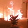 Dramatic footage shows Bilpin family home engulfed by blaze