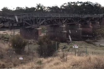 Snow flurries fell near the Queensland and NSW border.