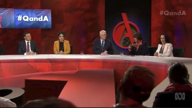Members of the panel on Monday night's Q&A.