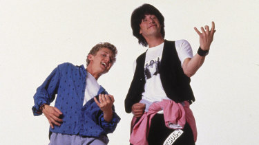 Alex Winter (left) and Keanu Reeves in 1989'S Bill & Ted's Excellent Adventure.