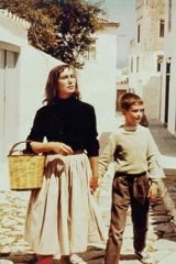 A young Martin Johnston and his mother Charmian Clift in Hydra in the mid-1950s.