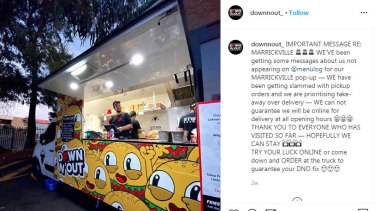 Down N' Out's food truck at Marrickville.