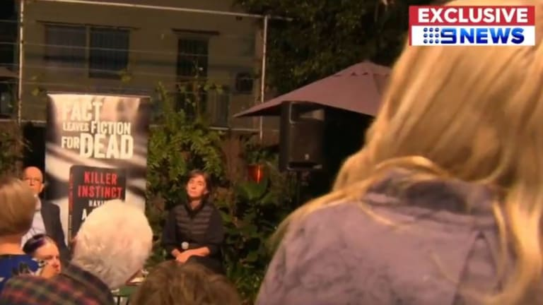 The mother of slain Brisbane woman Bianca Girven interrupted the book launch.