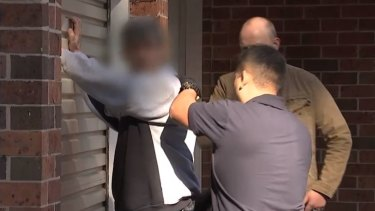 Police arrest a man following sting in which officers posed onlne as mothers.