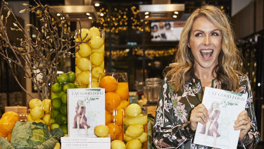 """Lorna Jane Clarkson at her """"Eat Good Food"""" book launch in Sydney on Thursday."""
