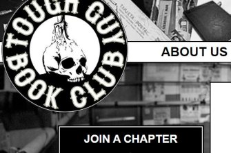 Come and join: A screenshot from the Tough Guy Book Club website