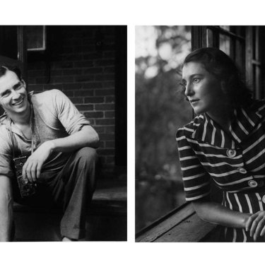 From left: Max Dupain photographed by Olive Cotton in 1939; Max's 1940 portrait of Olive.