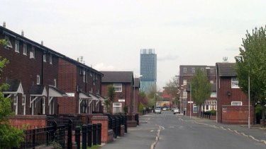 Moss Side in Manchester, England.