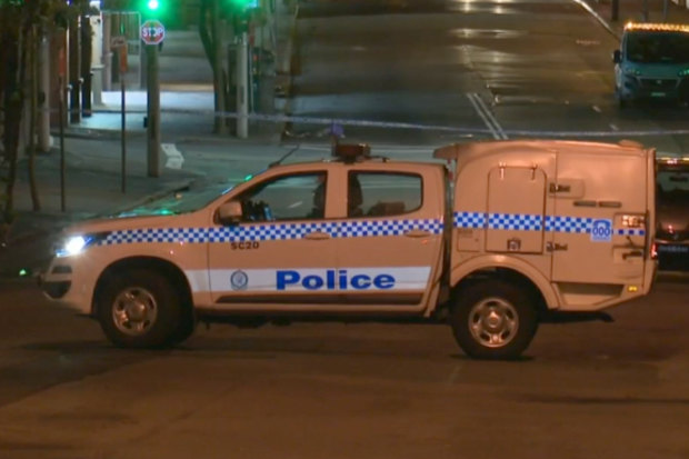 Police are appealing for witnesses after a man was killed by a gas bottle as storms lashed Sydney's CBD on Tuesday night. The 37-year-old Chatswood man was struck while leaving after-work drinks with a colleague on Harrington Street at The Rocks shortly before midnight.