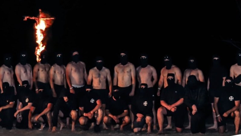 National Socialist Network cross burning in Grampians sparks calls for group to be added to terror list