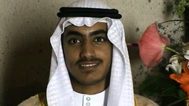 In this image from video released by the CIA, Hamza bin Laden is seen as an adult at his wedding.