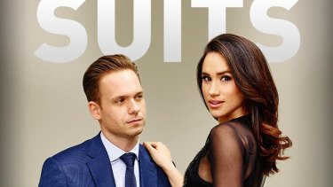 Patrick J. Adams and Meghan Markle in Suits.