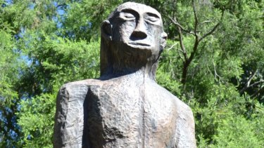 The Kilcoy yowie statue has been replaced, with the wooden creature switched for a more durable fibreglass model.