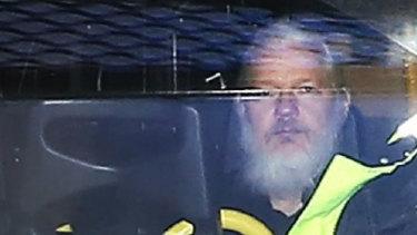 Julian Assange is in London's Belmarsh Prison serving a 50-week sentence for breaching bail conditions in 2012.