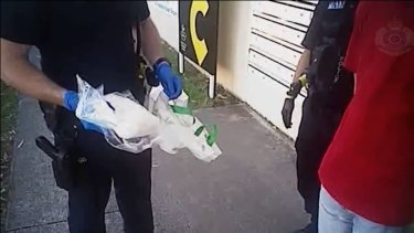 Police officers found a bag of crystal Meth in a car while stopping the driver in Brisbane's northern suburb of Taigum.