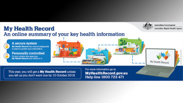 A My Health record advertisement.