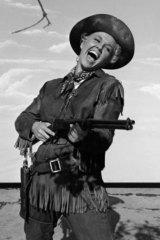 Doris Day in the 1953 screen version of <i>Calamity Jane</i>.