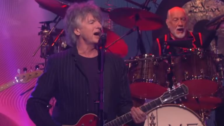 Neil Finn makes his debut with Fleetwood Mac.