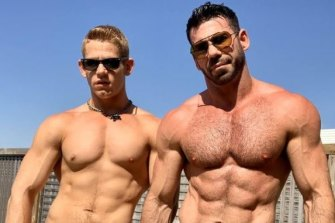Billy Santoro, right, and husband Gage.