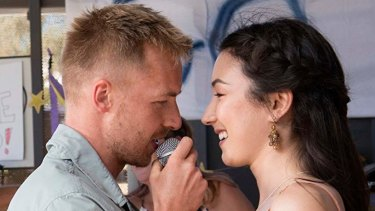 Angus McLaren and Natasha Liu Bordizzo in The Naked Wanderer.