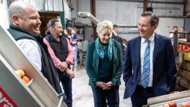 WA Agriculture Minister Alannah MacTiernan and Premier Mark McGowan.