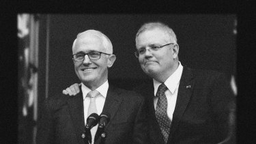 Scott Morrison displayed public support for Malcolm Turnbull two days before replacing him.