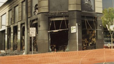 The exterior of the restaurant following the fire. (Victoria Police)
