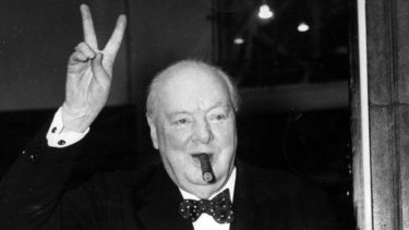That's V for victory, while it lasted ...  Winston Churchill.