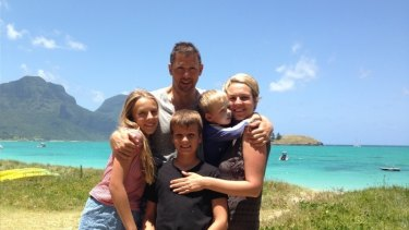 Tanya Plibersek with husband Michael Coutts-Trotter and their children (from left) Anna, Joe and Louis.
