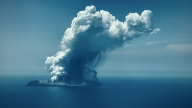 Tourism operator White Island Flights captured these images of the White Island eruption.